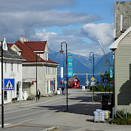 Center of Vik, Norway. Photo via TO.