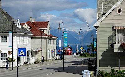 Center of Vik, Norway. Photo via TO.