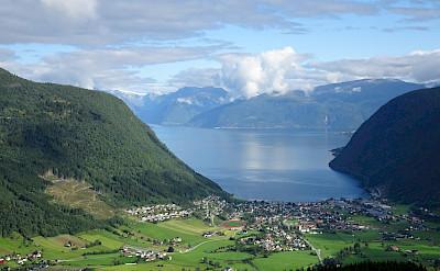 Overlooking Vik, Norway. Photo via TO.