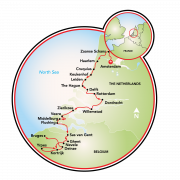 Tulip Tour - Amsterdam to Bruges - 14 day Map