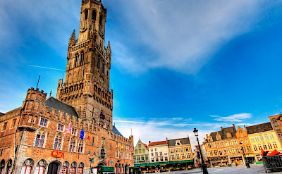 Belfort Tower in Bruges, Belgium. Photo via Flickr:Wolfgang Staudt