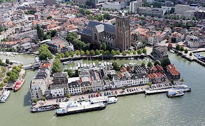 Aerial of Dordrecht, South Holland, the Netherlands. Photo via Wikimedia Commons:Joop van Houdt