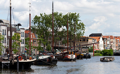 Harbor in Leiden, South Holland, the Netherlands. Photo via Flickr:qiou87