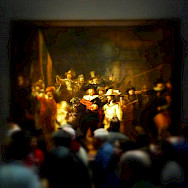 Rembrandt's famous <i>Nightwatch</i> in the Rijksmuseum, Amsterdam, the Netherlands. Photo via Flickr:Neil Thompson