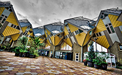The famous Cube Houses in Rotterdam, the Netherlands. Photo via Flickr:Andrea de Poda
