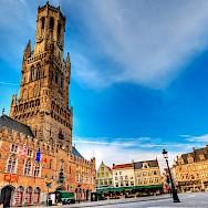 Belfort Tower lies in the main square of Bruges, Belgium. Flickr:Wolfgang Staudt