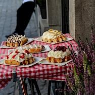 Belgian waffles of course in Bruges, Belgium. Flickr:Reyes Blanch