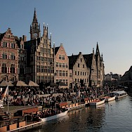The Graslei in old city center of Ghent, East Flanders, Belgium. Flickr:Olivier Bacquet