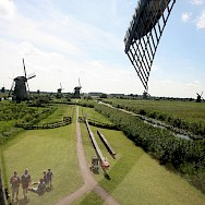 View from top of windmill in Kinderdijk, South Holland, the Netherlands. Flickr:bertknot