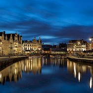 The famous Graslei in the old part of Ghent, East Flanders, Belgium. Flickr:Jiuguangwang