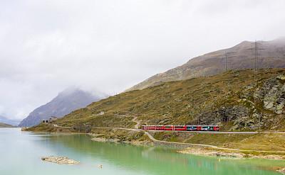 """""""55 Diavolezza"""" running the Bernina Express in Switzerland. Flickr:Andreas Ravnmoller"""