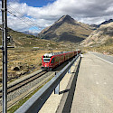 Train through the Bernina Pass in Switzerland. Photo via TO