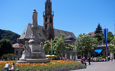 Cathedral in Bolzano, South Tyrol, Italy. Wikimedia Commons:benreis