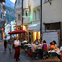 Dinnertime among the mountains surrounding Bolzano, Italy. Flickr:Michael Behrens