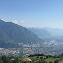 Overlooking Bolzano, South Tyrol, Italy. Wikimedia Commons:Georgij Michaliutin