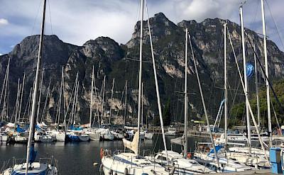 Boats awaiting sail on Lake Garda, Italy. Photo via TO