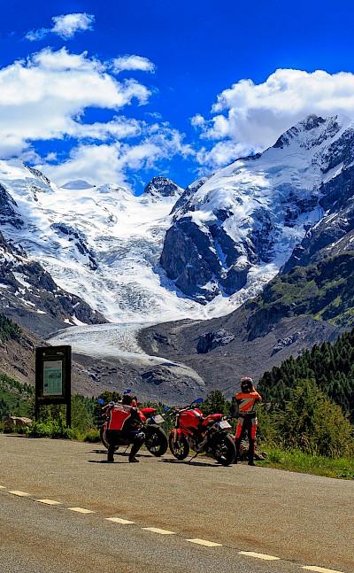 All kinds of bikers enjoy the Morteratsch Glacier in theBernina Rangeof the Bündner Alps in Switzerland. Flickr:Lukas Schlagenhauf