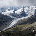 Morteratsch Glacier in Switzerland. Wikimedia Commons:Gunter Seggebaing