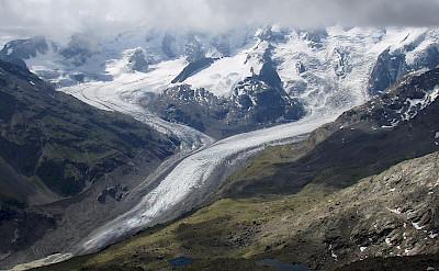 Morteratsch Glacier in Switzerland. Wikimedia Commons:Gunter Seggebaing