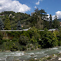 Passer River in Merano, Italy. Wikimedia Commons:stephantom