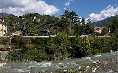Passer River in Merano, Italy. Wikimedia Commons:stephantom