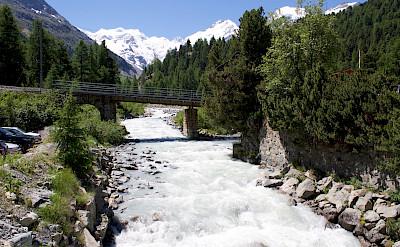 Roaring river at Morteratsch Glacier valley, Switzerland. Flickr:Patrick Nouhailler
