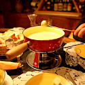 Cheese fondue is a Swiss tradition! Flickr:Ashley Deason