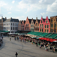 A view of Bruges' main square in Belgium. Flickr:anarey