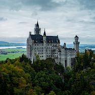 Neuschwanstein Castle towering over Hohenschwangau, Germany. Flickr:ChuanYu Shi