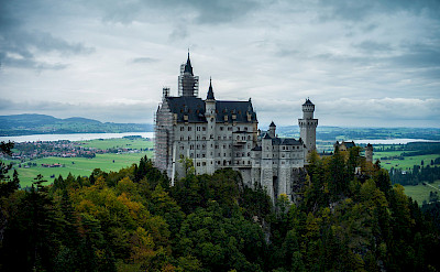 Neuschwanstein Castle towering over Hohenschwangau, Germany. Flickr:ChuanYu Shi