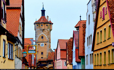 Rothenburg ob der Tauber is indeed a romantic town. Bavaria, Germany. Flickr:Moyan Brenn