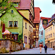 Romantic Road town of Rothenburg on the Tauber River in Germany. Flickr:Moyan Brenn