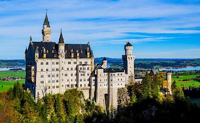 Neuschwanstein Castle towering over Hohenschwangau, Germany. Flickr:Kiefer