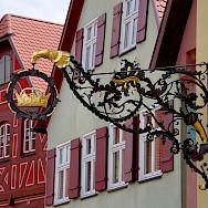 Zunftschild Altstadt in Dinkelsbühl, Bavaria, Germany. Flickr:Kim Bareimer
