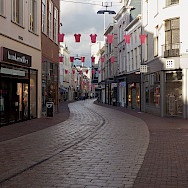 Shopping the city center in Holland's Arnhem. Wikimedia Commons:Michielverbeek
