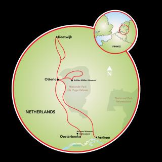 Rural Holland - Gelderland and De Hoge Veluwe Park Map