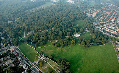 Aerial of Park Sonsbeek in Arnhem, Gelderland, the Netherlands. CC:Mdavids