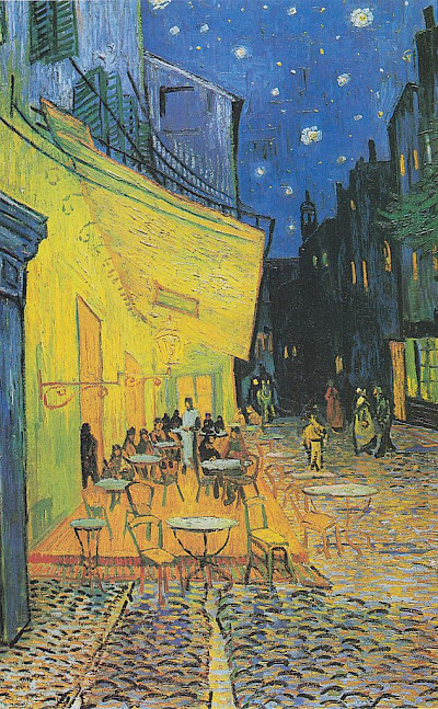 One of van Gogh's painting (of a Cafe in Arles) at the Kröller-Müller Museum in Otterlo, the Netherlands. CC0
