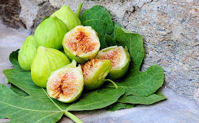Green figs are a favorite Greek delicacy. Greece. Flickr:Oleve Family Estates and Products