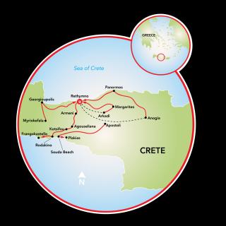 Island of Crete Map