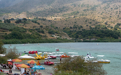 Water sports on Kournas Lake, Crete, Greece. Flickr:Pat Neary