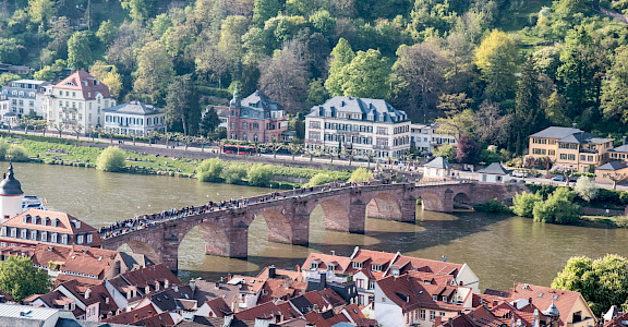 View from the castle in Heidelberg, Germany. Flickr:Gunter Hentschel
