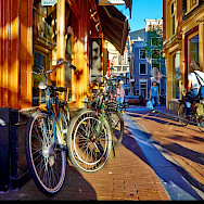 Bike rest in Amsterdam in North Holland, the Netherlands. Flickr:Moyan Brenn