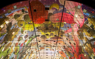 Ceiling of the Markthal in Rotterdam, South Holland, the Netherlands. Flickr:Tom Parnell