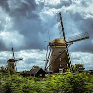 Stormy weather at Kinderdijk, South Holland, the Netherlands. Flickr:Leonardo Angelini