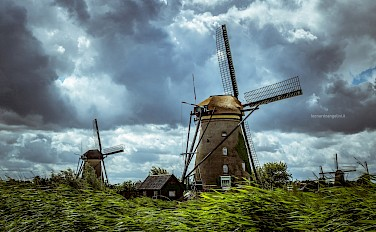 Stormy weather at Kinderdijk, South Holland, the Netherlands. Flickr:Leonardo Angelini