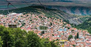 Skopje as seen from Mt Vodno, Macedonia. Flickr:Milo van Kovacevic