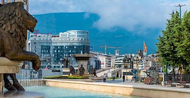 Sightseeing in Skopje perhaps. Macedonia. Flickr:Milo van Kovacevic