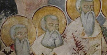 Religious figures at St Naum Monastery, Macedonia. Flickr:Dan