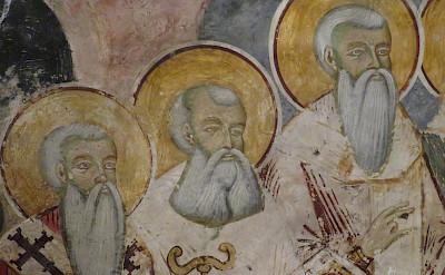 Religious figures at St Naum Monastery, Macedonia. Flickr:Dan